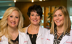 UW Health Transformations Jeune Skin Care Aestheticians Angie Byer, Lisa Klein and Danielle Kalscheur