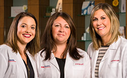 Jeune Skin Care aestheticians Chantel Dunwiddie, Angelina DiModica and Danielle Kalscheur