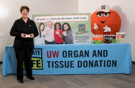 Kidney transplant recipient Carol Hay, the co-chair of UW Organ and Tissue Donation