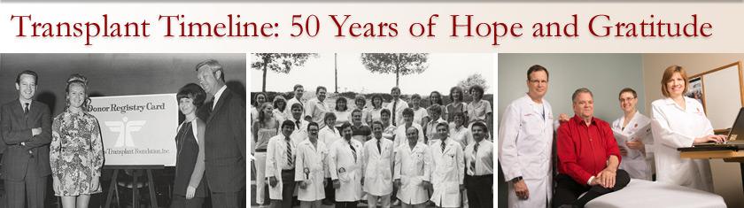 Transplant 50th Anniversary Timeline