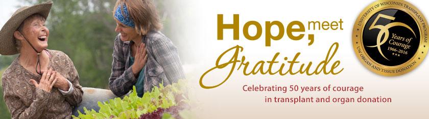 Hope, Meet Gratitude