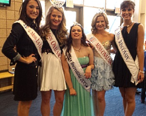 Lindsay (center) at the Miss RemarkAble pageant.