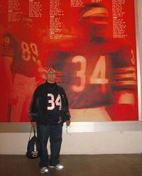 Peter Cashman of Chicago, Illinois, and a Chicago Bears football fan, received a liver transplant at UW Hospital and Clinics