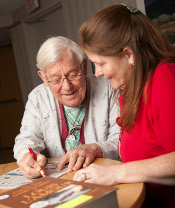 Our STaR volunteers provide personal interaction with the geriatric patient population.